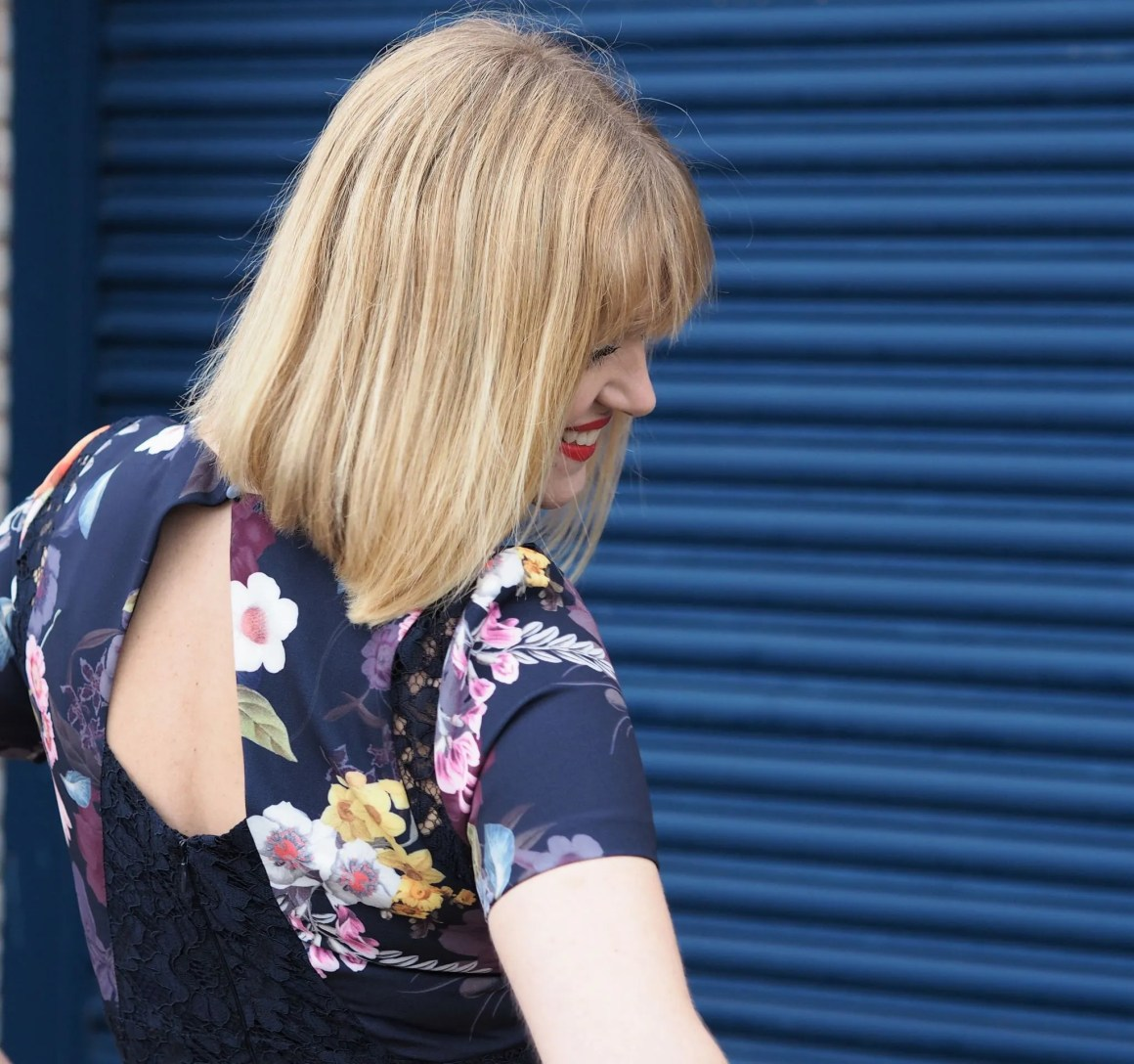 What Lizzy Loves spring trends bold colour floral and lace jumpsuit
