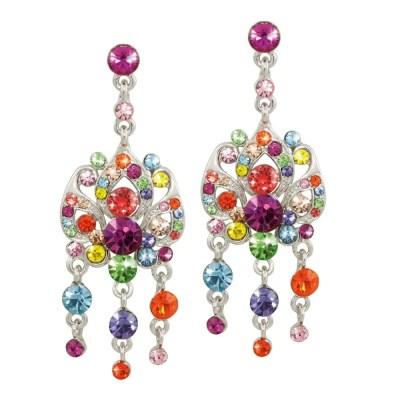 Rainbow Swarovski Earrings