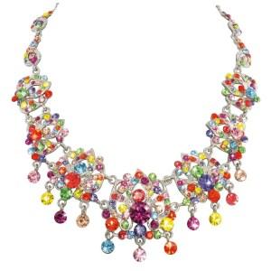 Eternal Collection Rainbow Swarovski Abracadabra Necklace