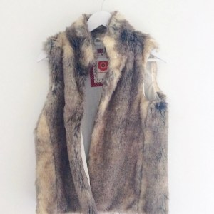 faux fur gilet white stuff