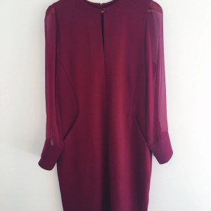 Winser London miracle dress burgundy