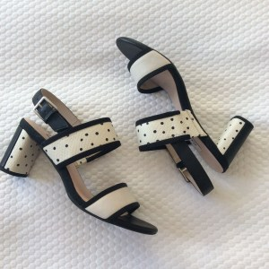 Clarks-black-cream-spotted-spotty-leather-sandals-block-heels