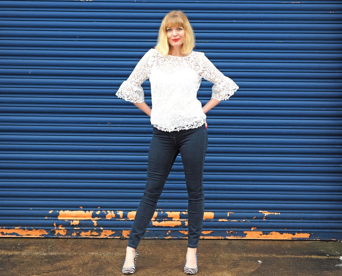 what-lizzy-loves-cream-lace-top-skinny-jeans-zebra-shoes