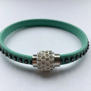 mint green diamante wrap bracelet