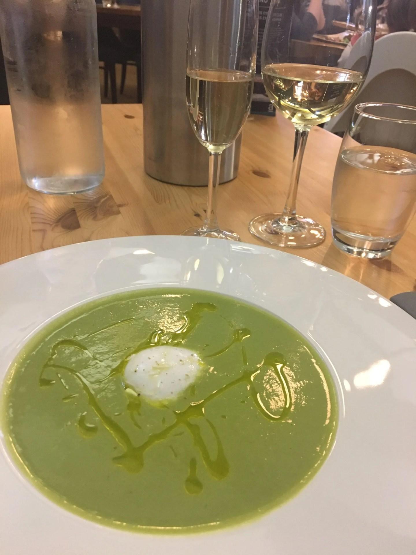 what Lizzy Loves wild garlic soup Artisan newcastle