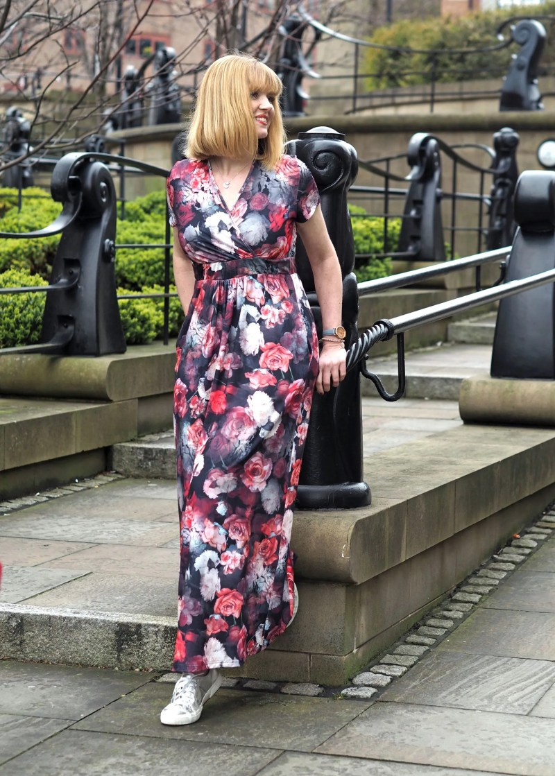 Floral Maxi With Silver Sneakers: In Newcastle