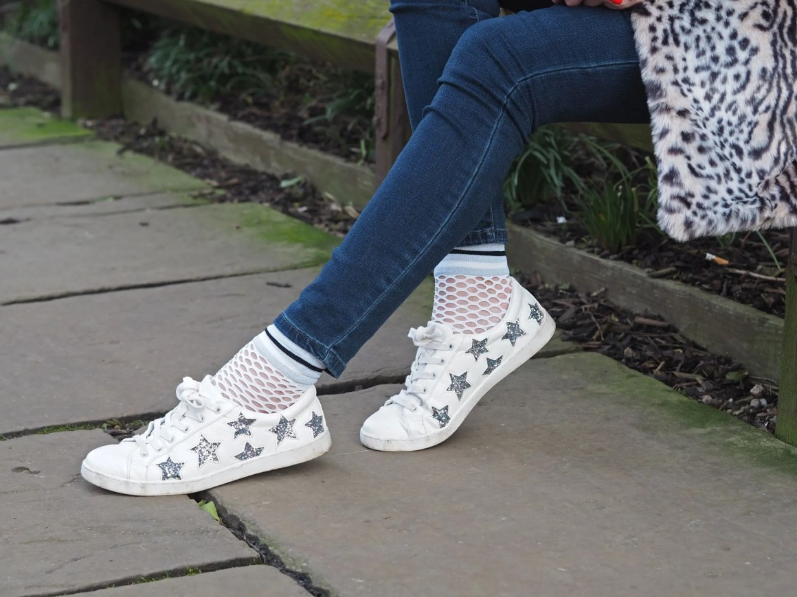 silver glitter star trainers what lizzy loves
