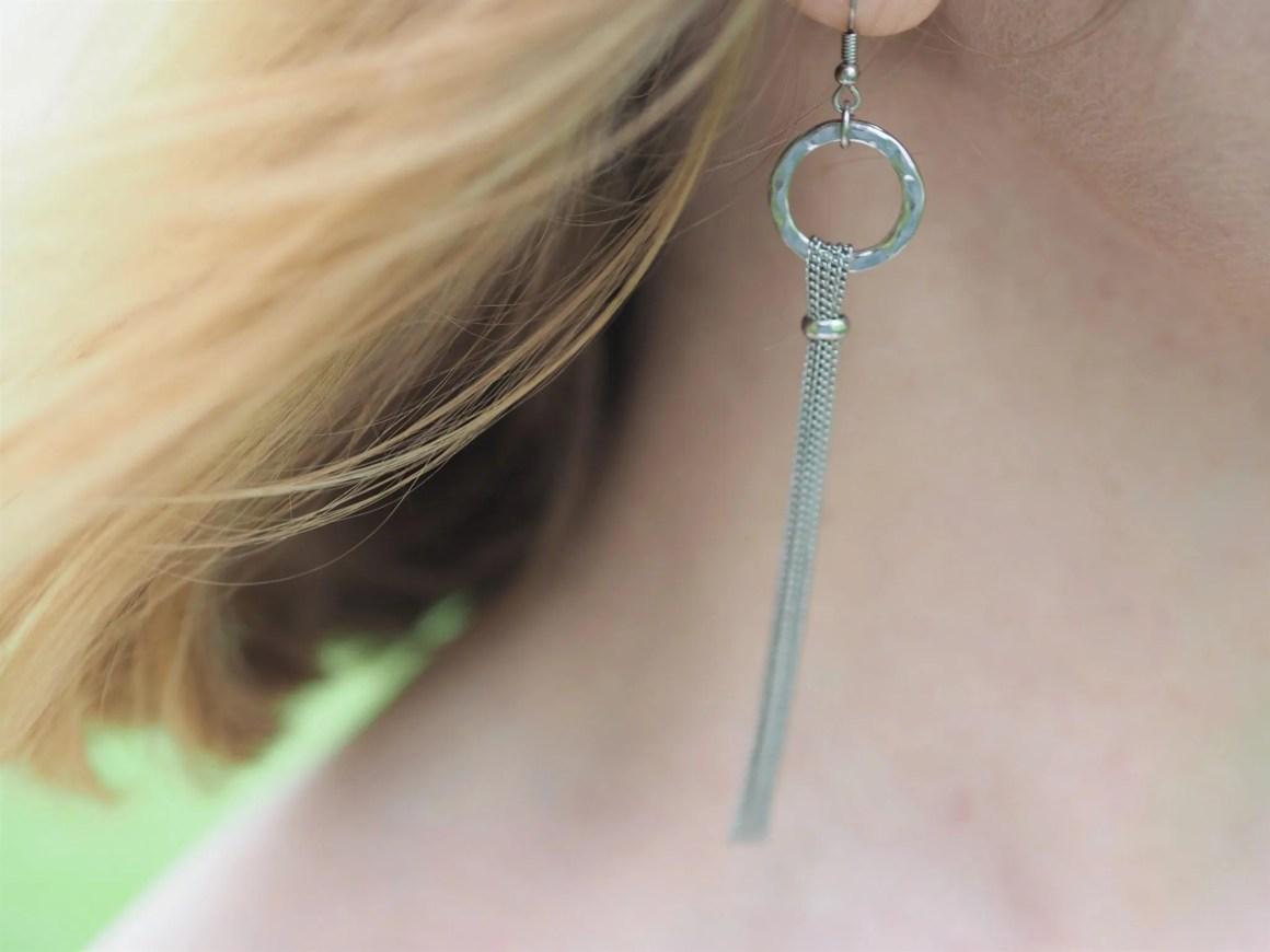 what lizzy loves silver tassel earrings