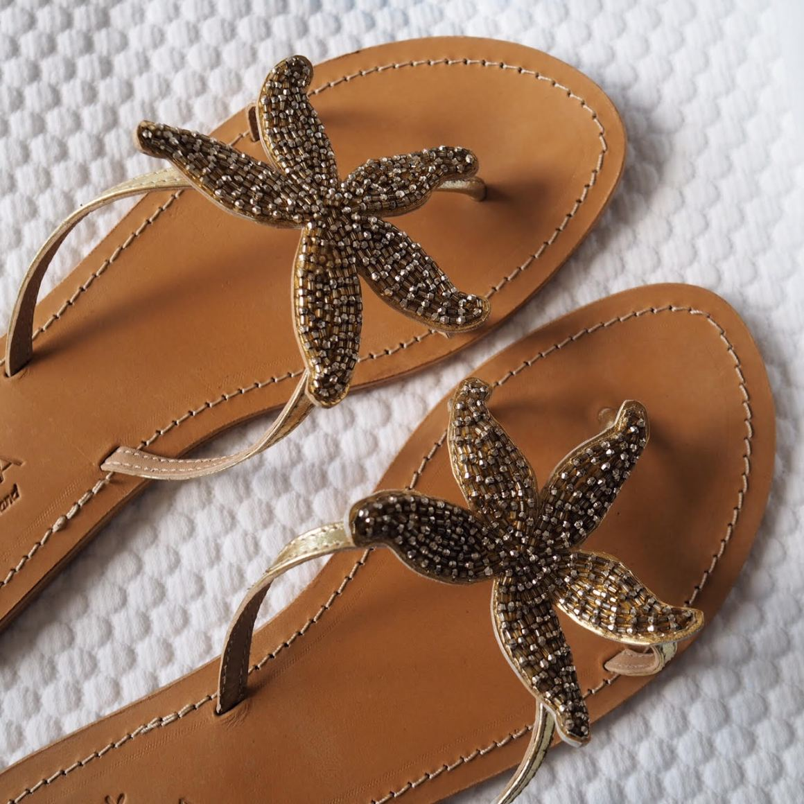 what Lizzy Loves aspiga beaded starfish sandals