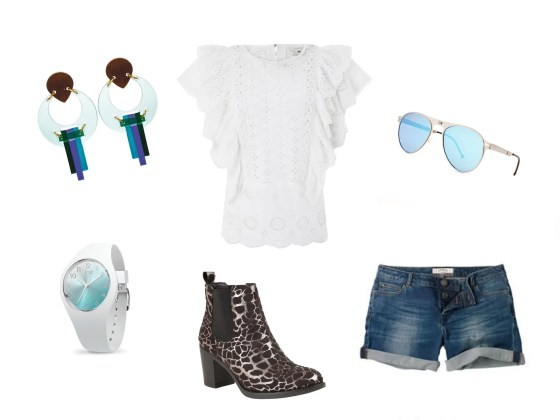 festival outfits over 40 denim shorts anke boots