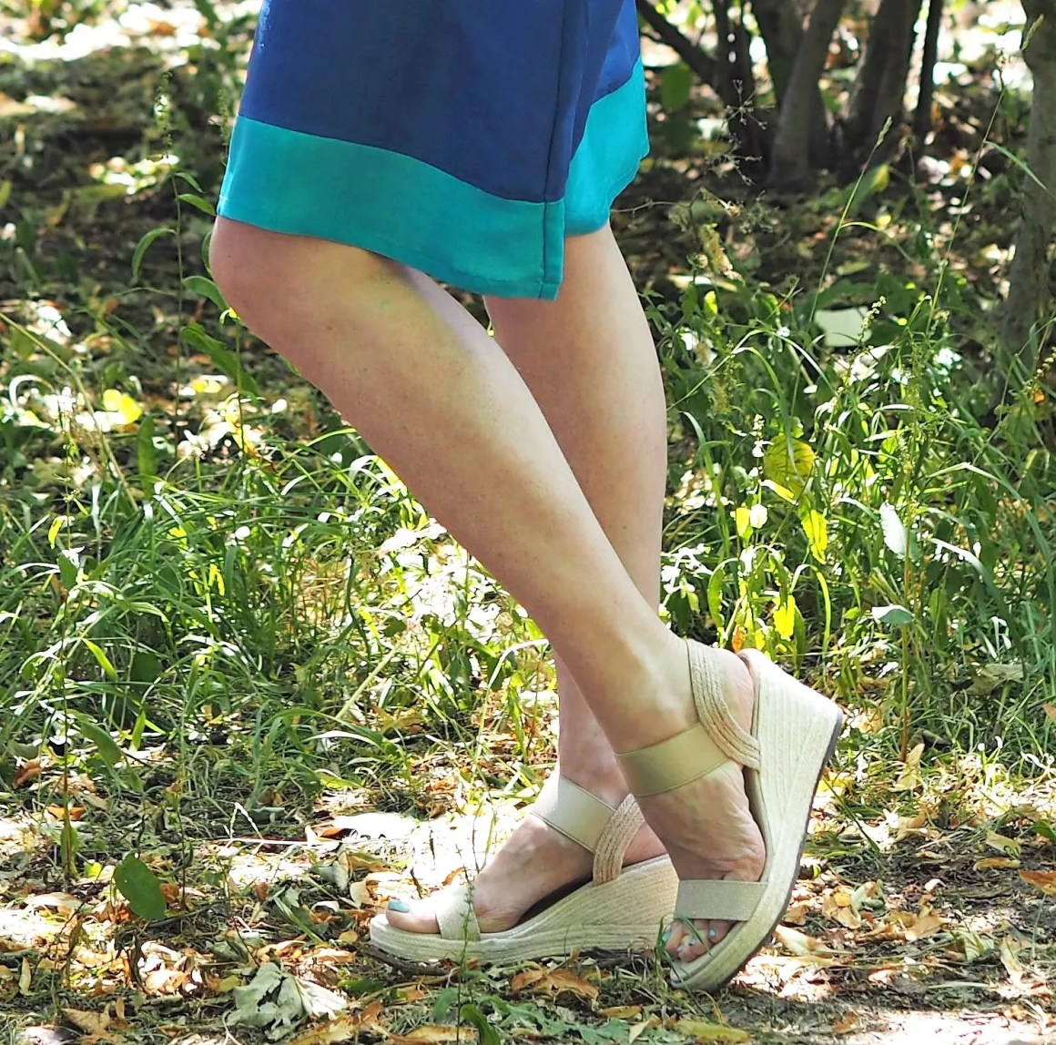 what lizzy loves gold wedge sandals