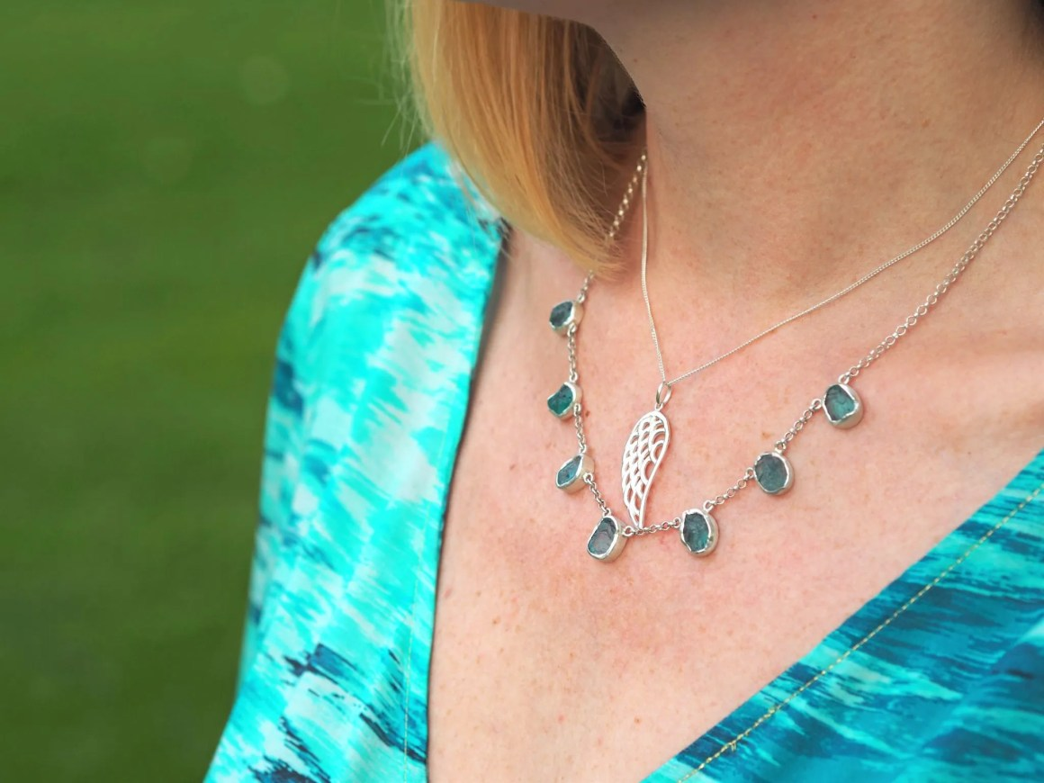 what lizzy loves apatite jewellery angel wing necklace