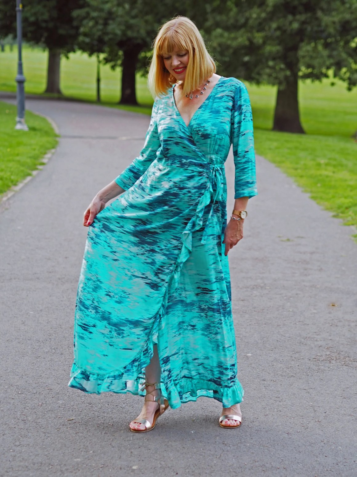 what Lizzy Loves sophia alexia caribbean dream maxi ruffle wrap dress