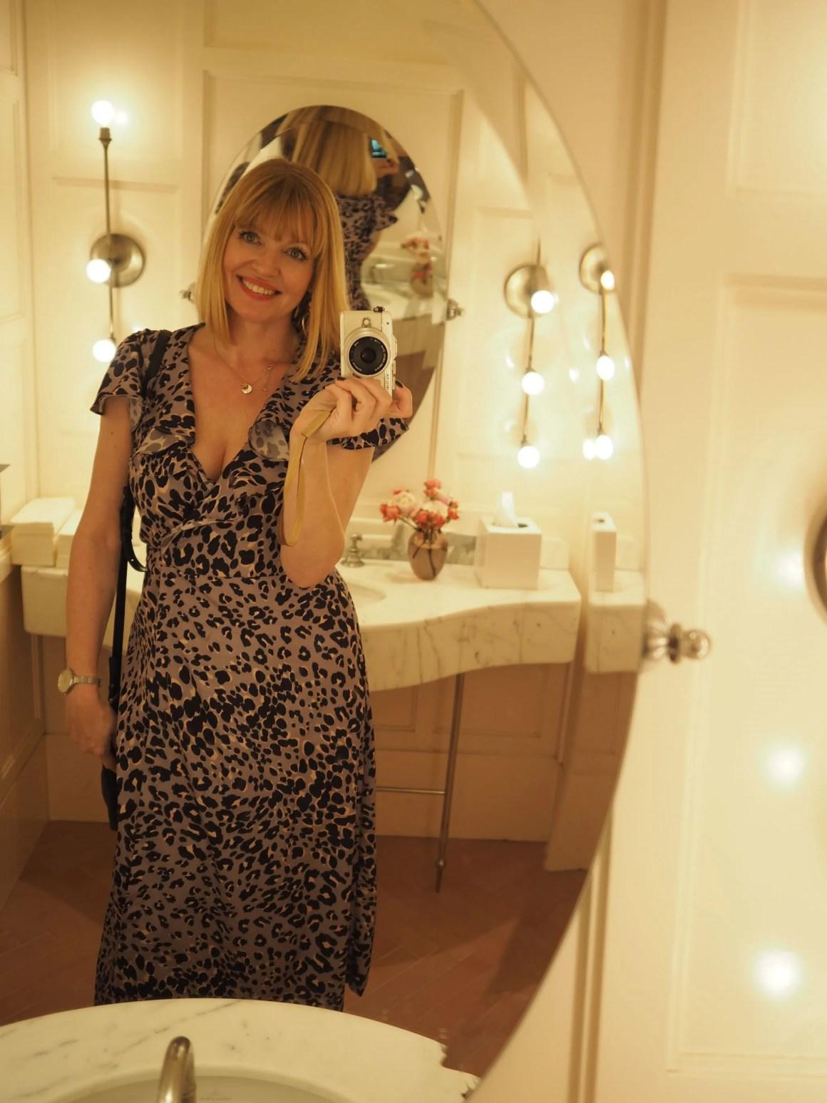 what lizzy loves grey leopard dress