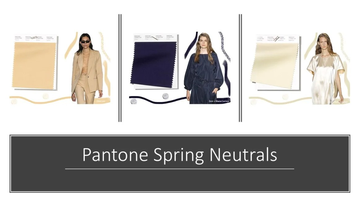 Pantone neutral spring colours