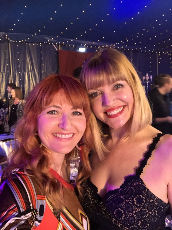Bloggers Lizzy and Catherine at the Vuelio blog awards