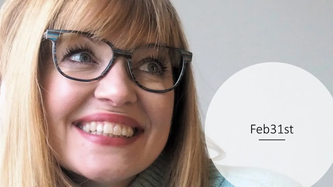 over 40 eyewear blogger wears Feb 31st wood frame for eyewear week