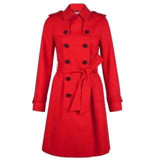 Hobbs London Saskia Red Trench Coat