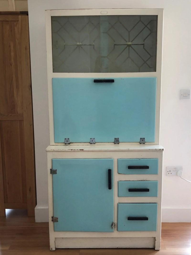 transform vintage cupboard into cocktail cabinet