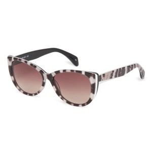 Karen Millen Black and White Layered Cat-Eye Sunglasses (KM5029)