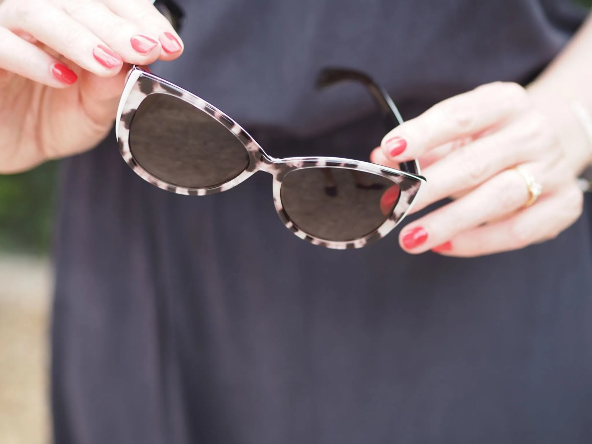 Karen Millen black and white sunglasses