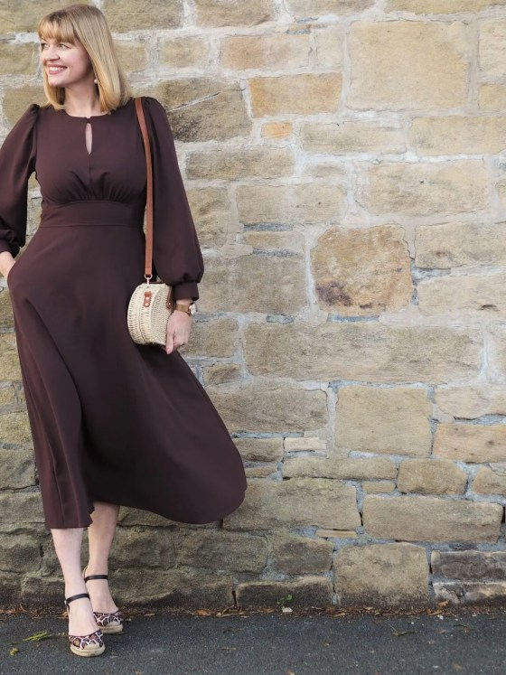 Closet brown midi dress