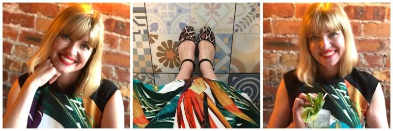 Closet palm print dress