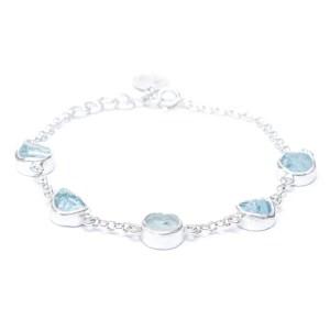 Sterling Silver and Aquamarine Bracelet