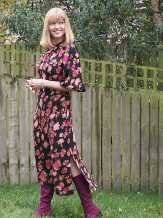Closet London puff sleeved midi dress