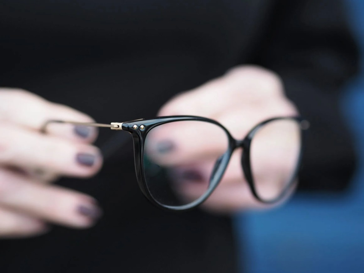 Simple elegant understated black eyewear by Stepper