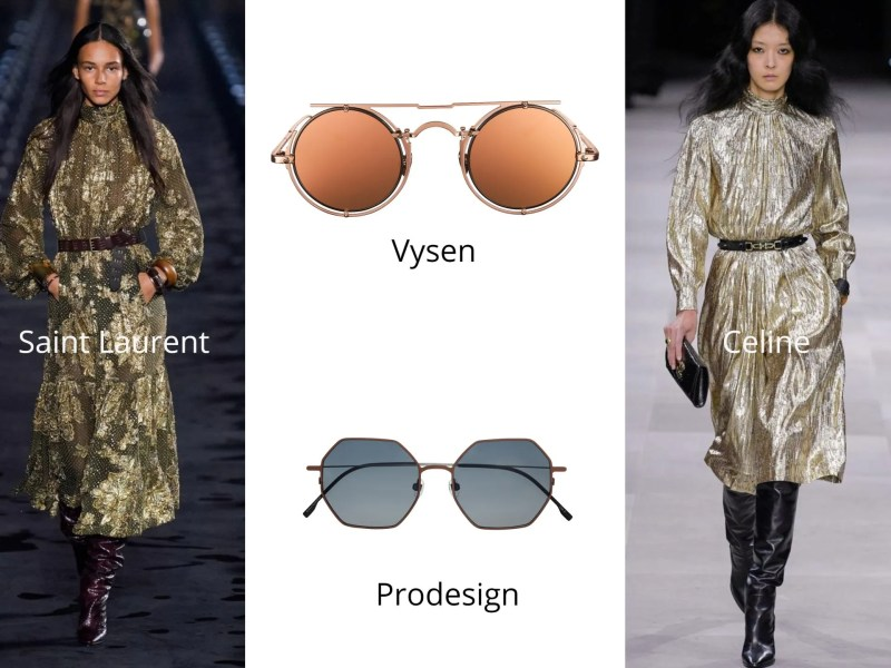 Fashion and eyewear trends 2020 modern metallics