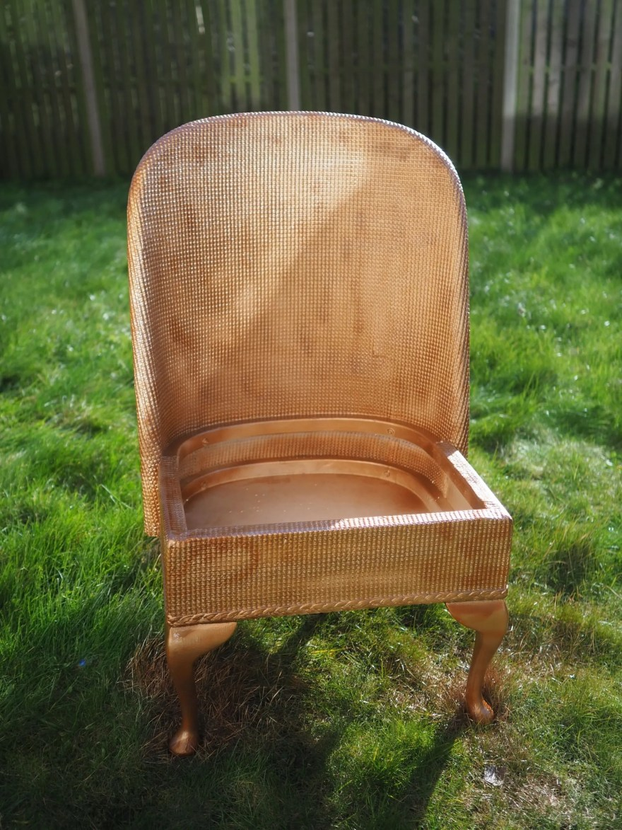 copper lloyd loom chair