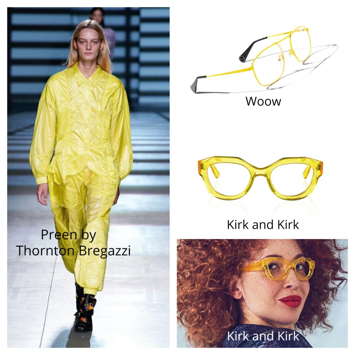 yellow neon brights 2020 fashion and eyewear trends
