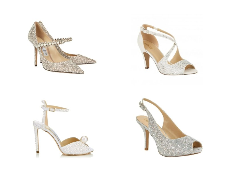wedding shoes with crystals and pearls