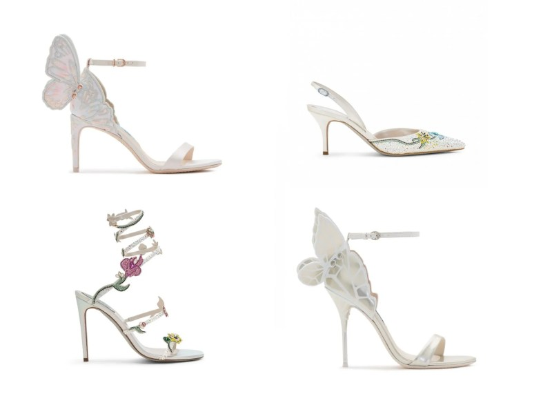 Butterfly and flower wedding shoes