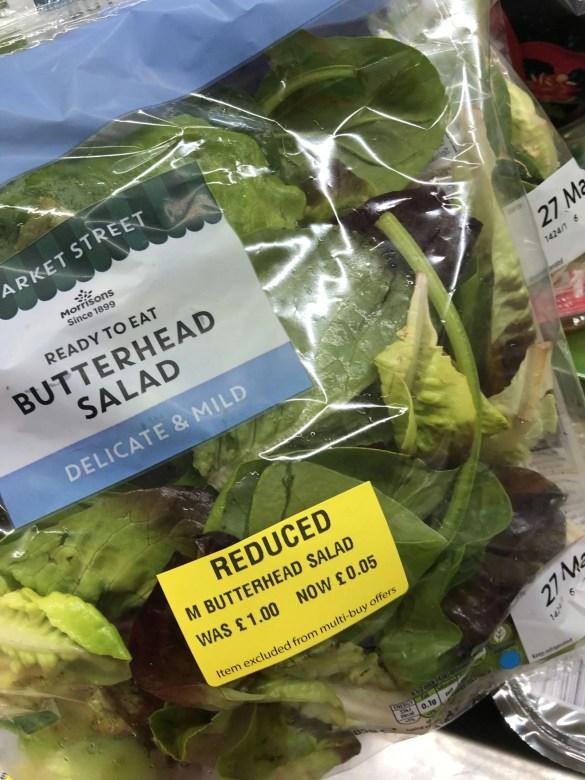 reduced bag of salad