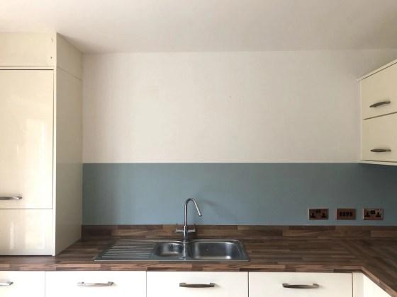 DIY kitchen splashback with paint