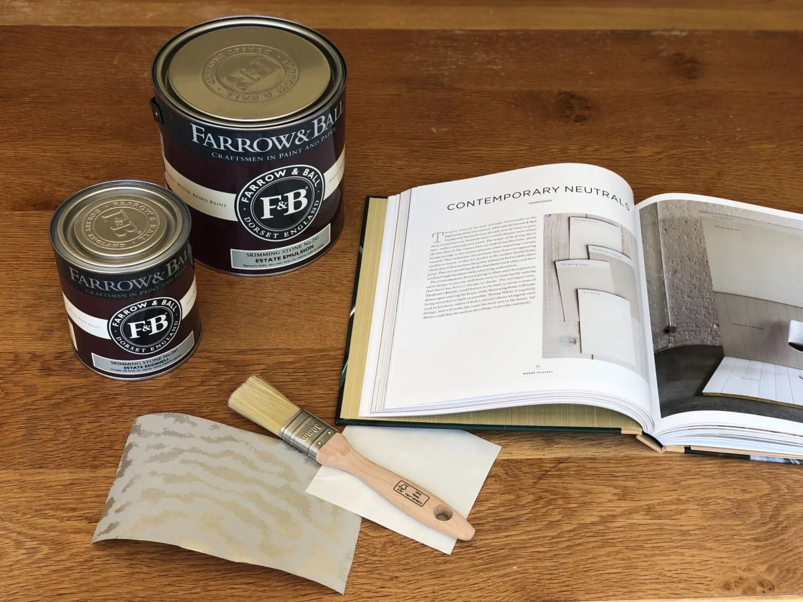 Farrow and Ball Skimming Stone paint