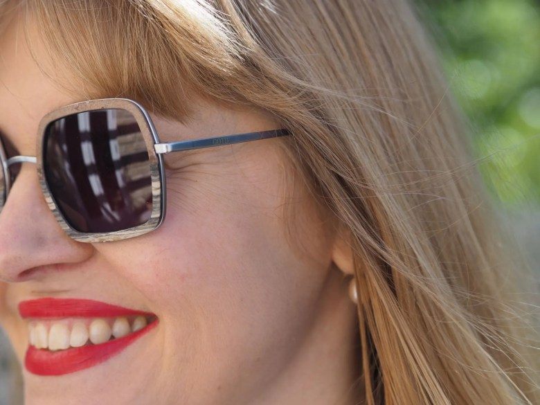 square slate and wood sunglasses by GOTD