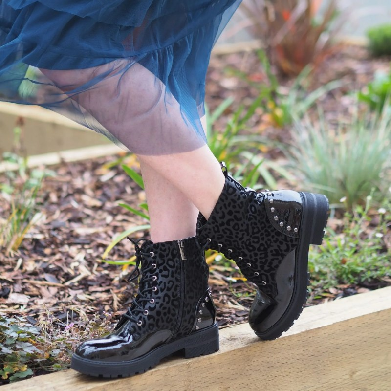 Lotus chunky soled Doc Marten type boots
