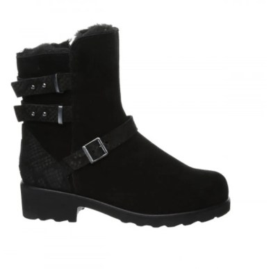 black suede chunky sole biker style boots