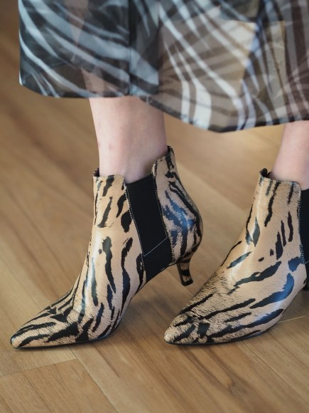 tiger print ankle boots