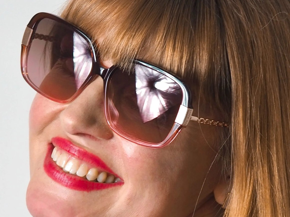 brown and pink Ted Baker sunglasses
