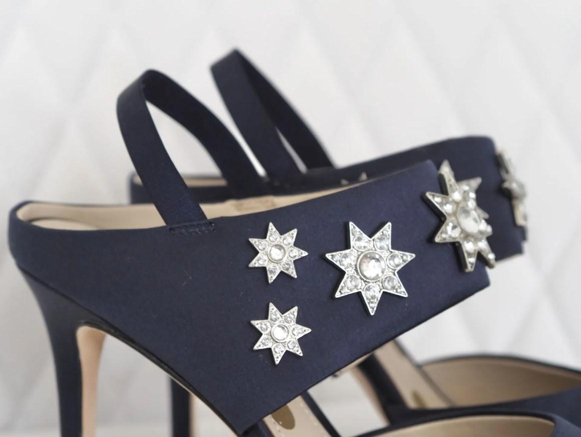 navy Boden natalia slingbacks star embellished