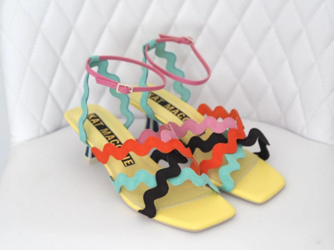 Kat Maconie Esta sandalsmulti coloured kitten heel sandal