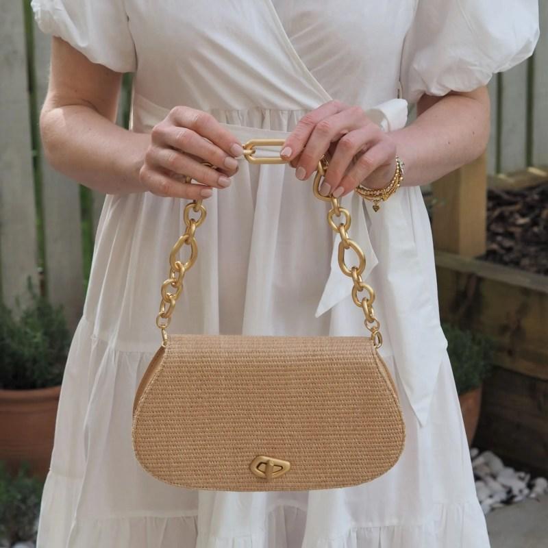 cult gaiai albe bag with gold chain handle