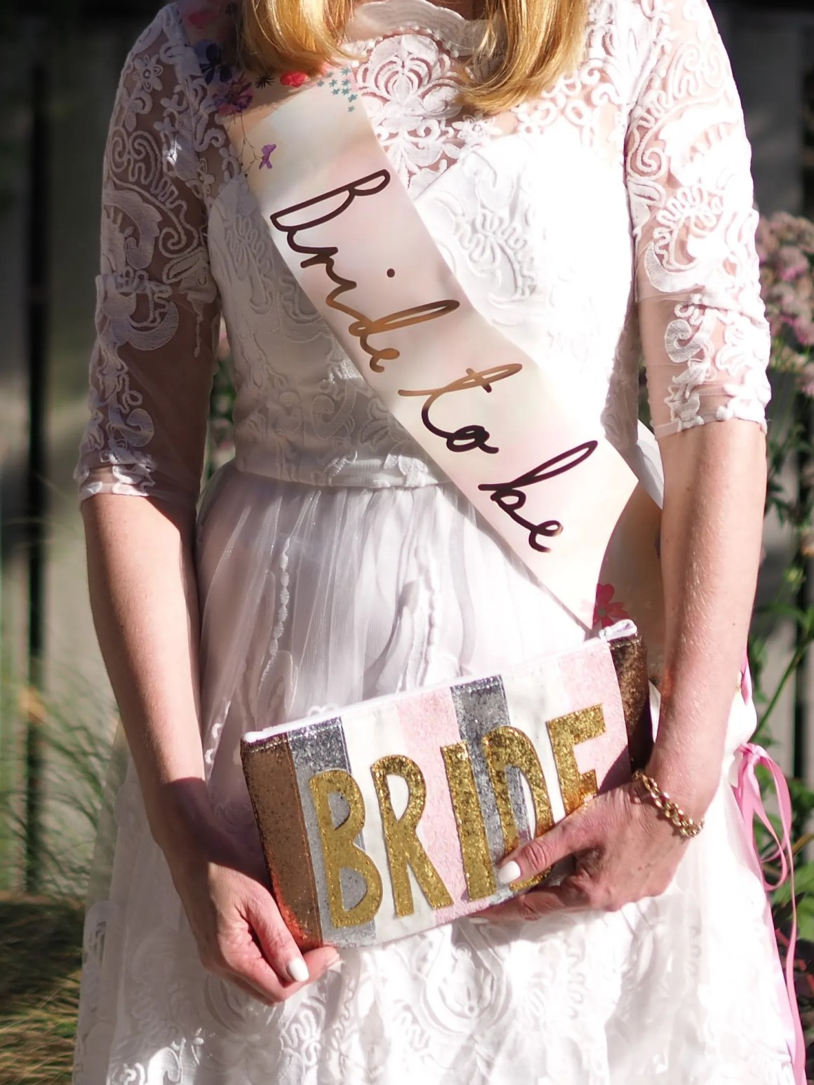 Glitter bride bag