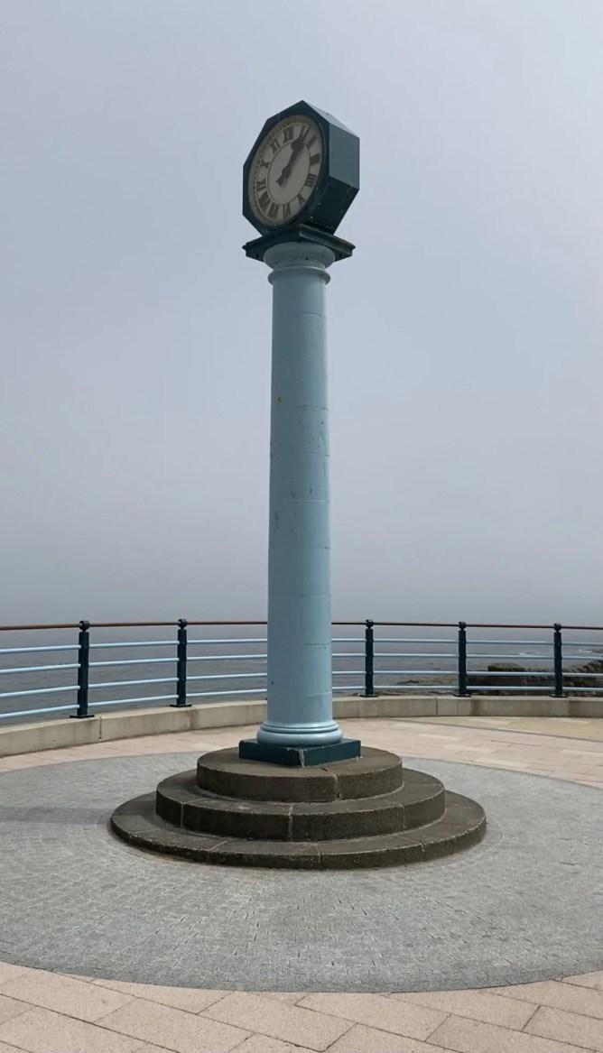 clock at Whitley Bay