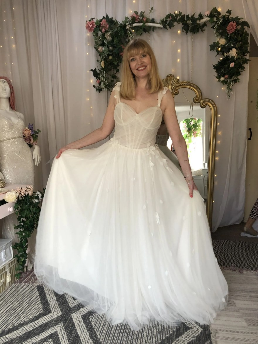 tulle princess wedding dress