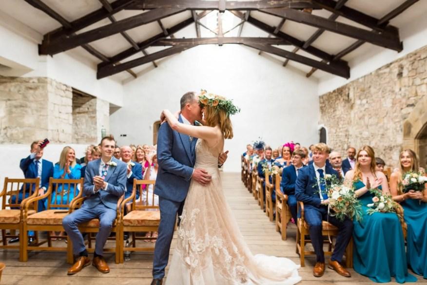 Elizabeth and Ian wedding at medieval banqueting hall, Skipton Castle